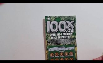 100X The Cash Illinois Lottery Scratch Off Ticket Winning Challenge